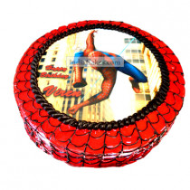 Fondant Spiderman Photo Round Cake One Kilogram