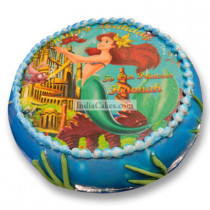 Fondant Little Mermaid Photo Cake One and a Half Kilogram
