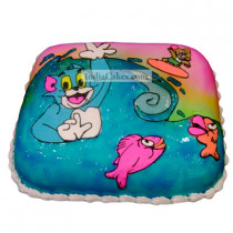 Fondant Tom and Jerry Cake Two Kilogram