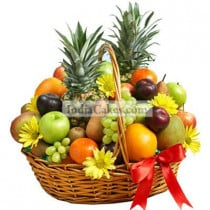 4 Kg Mix Fruits Medium Basket