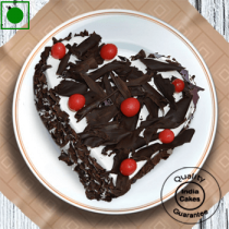 Eggless Half Kg Heart Shape Black Forest Cake