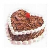 Black Forest Cake 1 Kg Heart Shaped