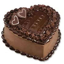 Eggless Chocolate Truffle Cake 1 Kg Heart Shape