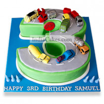 2 Kg Cars Birthday Cake