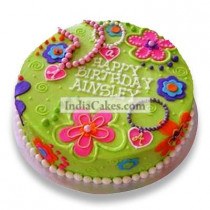 2 Kg Green Girly Cake