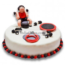 Fondant Gym Cake Two Kilogram