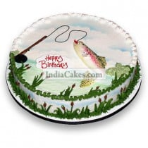 2 Kg Happy Fishing Cake