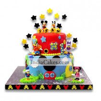 3.5 Kg Mickey Mouse Club house Cake