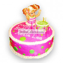 Fondant Pink Doll Cake Two Kilogram