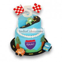 3 Kg Race Car Birthday Cake