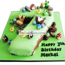 7th Birthday Angry Birds Cake Three Kilogram