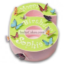 6th Birthday Butterfly Cake Three Kilogram