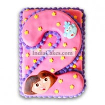 2nd Birthday Dora Cake Three Kilogram