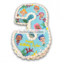 3rd Birthday Little Mermaid Cake Three Kilogram