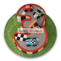 3rd Birthday Race Track Cake Three Kilogram