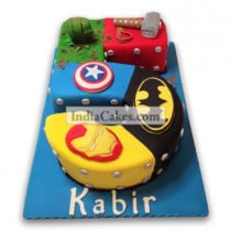 5th Birthday Super Heroes Cake Three Kilogram