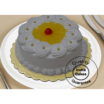 Eggless Half Kg Pineapple Cake_1