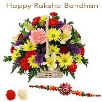 15 Mix Flowers With Rakhi