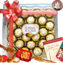 Rakhi with 24 Ferrero Rocher Chocolates