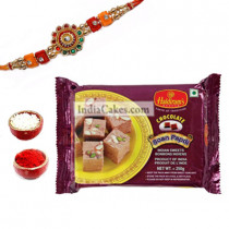 Rakhi With 250 gms Soan Papdi