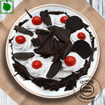 Eggless Half Kg Rich Black Forest Cake with Cherry