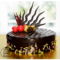Eggless Rich Chocolate Truffle Cake