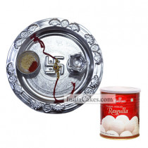 Silver Thali And Rasgulla
