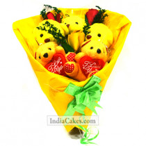 Teddy Bouquet 10