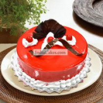 Eggless Strawberry Cake 1 Kg
