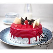 Half Kg Strawberry Cake - Premium Bakery