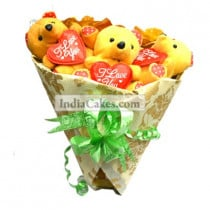 Teddy Bouquet 59