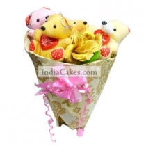 Teddy Bouquet 66