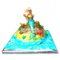Fondant Little Mermaid Cake Two Kilogram