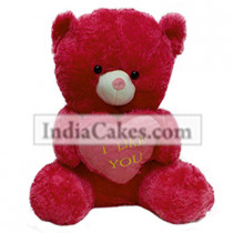 40 cm Red Color Teddy Bear With Heart