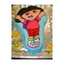 2 KG Dora Doll Cartoon cake