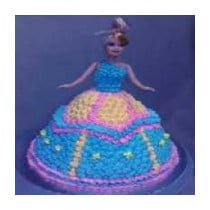 3 KG Barbie Doll Icing Cake