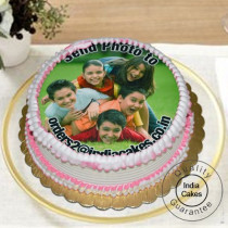 1 Kg Eggless Vanilla Photo Cake
