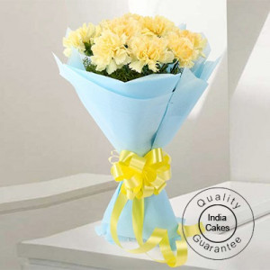 10 YELLOW CARNATIONS BUNCH