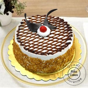 Half Kg Eggless Butter Scotch Cake