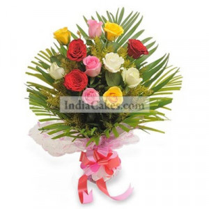 12 Mix Roses Bunch