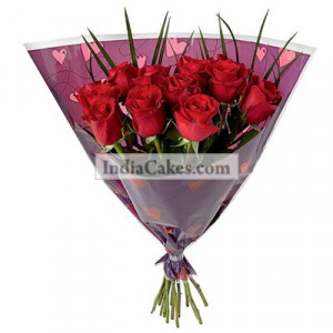 Hand Tied 20 Red Roses Bunch