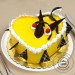 1 Kg Eggless Mango Cake Heart Shape