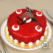 1 Kg Eggless Red Velvet Cake